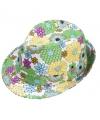 Summer hoedje met bloemen