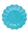 Turquoise diepe wegwerp bordjes 27 cm