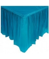Plastic tafelrokken turquoise