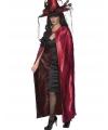 Reversible heksen cape rood
