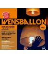 Wensballonnen oranje 39 x 58 x 106 cm