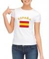 Spaanse vlag t-shirt voor dames