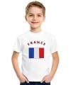 Frankrijk vlag t-shirts voor kinderen