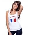 Franse vlag tanktop / t-shirt voor dames