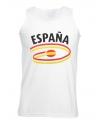 Spanje tanktop voor heren met vlaggen print