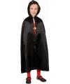 Zwarte cape voor kinderen