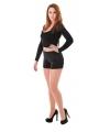 Sexy shorts voor dames zwart